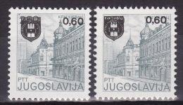YUGOSLAVIA 1983. Definitive, MNH (**), Mi 1974 A, C - 1945-1992 Sozialistische Föderative Republik Jugoslawien