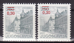 YUGOSLAVIA 1983. Definitive, MNH (**), Mi 1967 A, C - 1945-1992 Sozialistische Föderative Republik Jugoslawien