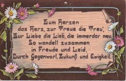 AK Zum Herzen Das Herz, Zur Treu Die Treu'... - Margeriten (21655) - Blumen