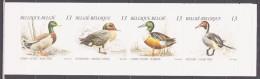 Belgium 1989 Belgien Mi MH30(2384-2387) Birds: Ducks / Vögel: Enten **/MNH - Ducks