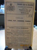 ITINERAIRE TCB N°28 LIEGE, HUY, ANDENNE, NAMUR - Cartes
