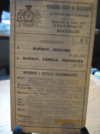 ITINERAIRE TCB N°9 A: DURBUY, SERAING B: DURBUY, ESNEUX, PEPINSTER - Cartes