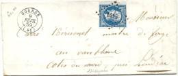 Mayenne - Gorron Pour Les Forges Du Vauxblanc Près Loudeac. PC + CàD Type 15 - 1849-1876: Classic Period