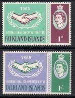 FALKLAND ISLANDS 1965 International Co-operation Year I C Y Omnibus Set- Mint Never Hinged MNH ** - 2B484 - Falkland Islands
