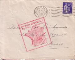 SEINE - CHARENTON LE PORT - TYPE PAIX - 90c SEUL SUR LETTRE POUR MONACO - 1er LIAISON AEROPOSTALE DE NUIT - PARIS-MARSE - Postmark Collection (Covers)