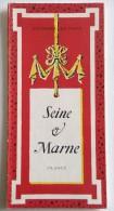 ANCIENNE CARTE DE LA SEINE ET MARNE  77 FRANCE ENVIRONS DE PARIS - Sonstige