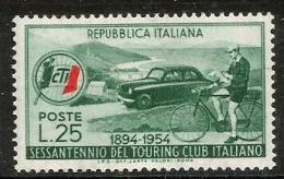1954 TOURING  Nuovo Serie Completa  ** MNH - 6. 1946-.. Repubblica