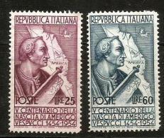 1954 VESPUCCI   Nuovo Serie Completa  ** MNH - 6. 1946-.. Repubblica