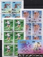 Olympiade 1984 Los Angeles Korea 2410/2 KB+Block 156 O 52€ Volleyball Radsport Lauf Judo Hoja Bloc M/s Sheetlet Bf Coree - Ciclismo