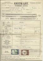 CROATIA,   NEZAVISNA DRZ. HRVATSKA, NDH , TOMASICA  --  TESTIMONIUM BAPTISMI   -  1944  --  WITH CHURCH TAX STAMP, - Historical Documents