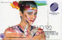 Hair World 92 Tokyo Cosmétique Cosmetics Femme Girl  Télécarte  B 321 - Perfume