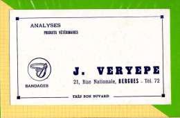 BUVARD & Blotting Paper :  Analyses Produits Veterinaires J. VERYEPEE Bergues  Blanc - Animaux
