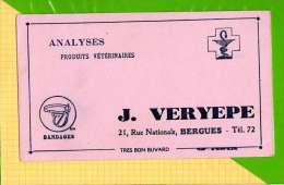 BUVARD & Blotting Paper :  Analyses Produits Veterinaires J. VERYEPEE Bergues  Rose - Animales