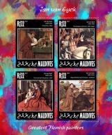 MALDIVES 2014 - Saint Jerome, Jan Van Eyck - YT 4429-32; CV = 16 € - Theologians