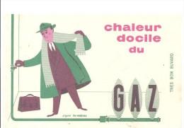 Buvard GAZ Chaleur Docile Du GAZ - Electricité & Gaz