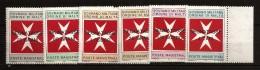 Ordre De Malte 1975 N° Taxe 11 / 6 ** Surchargé, Croix Octogonale, Segnatasse, Saint-Jean De Jérusalem - Malte (Ordre De)