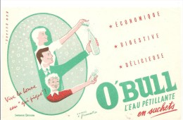 Buvard O´BULL L´eau Pétillante En Sachets Economique Digestive Délicieuse - Limonades