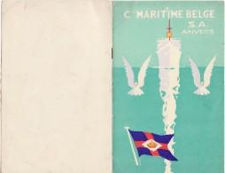 Anvers Compagnie Maritime Belge  Liste Des Passagers Paquebot ANVERSVILLE - Vieux Papiers