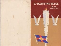 Anvers Compagnie Maritime Belge  Liste Des Passagers Paquebot ALBERTVILLE - Vieux Papiers