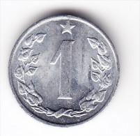 1962  Czechoslovakia 1 Heller Coin - Tchécoslovaquie