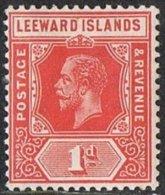 Leeward Islands SG48 1912 Definitive 1d Red Mounted Mint - Leeward  Islands