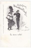 Affaire Zola-Esterhazy Dreyfuss Affair Antisemitism 'Veiled Lady' Image 'Bien Mon General' C1890s Vintage Postcard - Events