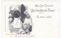 Affaire Zola-Esterhazy Dreyfuss Affair Antisemitism Veiled Lady Image 'La Decouverte Du Mystere C1890s Vintage Postcard - Events