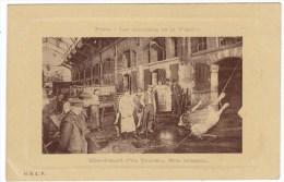 Jewish Ritual Killing A Bull Paris Market Halle Scene, C1900s/10s Vintage Postcard - Jewish