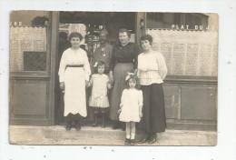 Cp , Carte Photo : Phot. De La Cour Sully , Chatillon S/Bagneux , Commerce , Restaura , Militaria , Militaire , Enfants - Personen