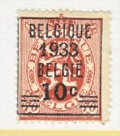 BELGIUM  255   (o) - 1929-1937 Heraldic Lion
