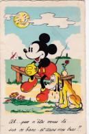 1938 Mickey Mouse Amoureux In Love Disney Walt Old Original Postcard Séphériadès Hasselt Post Mini Pluto Hond Dog Chien - Disney