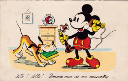 193... Mickey Mouse Disney Walt Old Original Postcard Séphériadès Hasselt Post Telephone Telefoon Pluto Dog Chien Hond - Disney