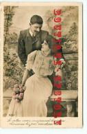 4 CARTES AMOUREUX - FEMME + HOMME - AMOUR - FIANCEE COUPLE - TOUS Les SCANS RECTO VERSO VISIBLES - Cartes Postales
