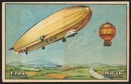 Chromo KwaK / Erdal - Die Entwicklung Der Technik - Montgolfière Und Zeppelinluftshiff - Trade Cards
