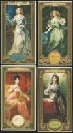 4 Chromos Biscuits PERNOT (Dijon) - Dame Célèbres : Mme Récamier, Marquise De Sévigné, Duchesse De Longueville, Mme R... - Pernot