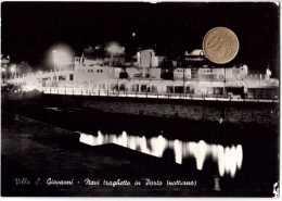 VILLA SAN GIOVANNI NAVI TRAGHETTO IN PORTO NOTTURNO VIAGGIATA 1959 - Other Cities