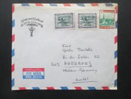 Saudi Arabien Luftpostbrief Nach Herzberg (Harz) Al-Attas Oasis Hotel Jeddah S. Arabia - Saudi-Arabien