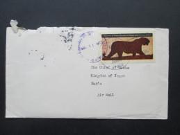 China / Yemen 1975 Republic Of Morac Songhrati Meads. Marke: Tiger. Offizieller Brief Der Regierung!! Neuer Staat! RRR - Briefe U. Dokumente