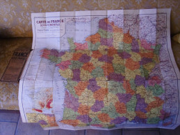 GRANDE CARTE TARIDE 90 FRANCE DEPARTEMENTALE COULEURS 1/1300000 - Cartes Routières