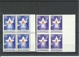 RUMANIA AEREO YVERT  173/74  (BLOQUE DE 4)  MNH  ** - Aéreo