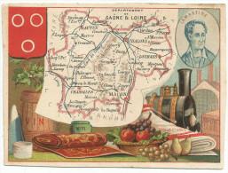 CHROMOS - DEPARTEMENT DE SAONE ET LOIRE - LAMARTINE. - Trade Cards