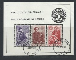 - BLOKKEN  BELGIE   GESTEMPELD  O.P.C.  NR°  32   Catw   72.00  Euro - Blocks & Sheetlets 1924-1960