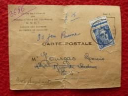 TIMBRE GANDON SUR CARTE CONVOCATION PERMIS DE CONDUIRE MONTPELLIER 1951 - 1921-1960: Modern Period