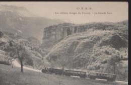 CPA:Vers Voiron:Gorges Crossey:Grande Sure:Cie V.S.B.Train - Voiron