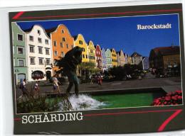 Schärding Am Inn - Christophorusbrunnen Am Oberen Stadtplatz - Schärding