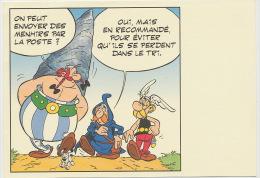 Journée Du Timbre 1999 Asterix Dessin Uderzo  Croix Rouge Obelix Menhir En Recommendé - Bandes Dessinées
