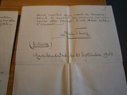 EVIANNE-nouvelle De ROBERT THIRY-Mont-Saint-Pont( Braine L'Alleud) Le 21/9/1908+ Courriers à J.et G. RIGA à Liège - Manuscrits