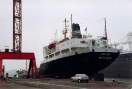 "Photo Navire Bateau   "" Port Lazo    "" Soflumar Pétrolier La Rochelle Palice - Bateaux"