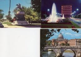 Roma - Lotto Tre Cartoline GIANICOLO MONUMENTO AD ANITA GARIBALDI, P.CIVILTÀ E.U.R, S. PIETRO LUNGOTEVERE  - OTTIME M17 - Roma