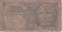 BILLETE DE ESPAÑA DE 5 PTAS DEL AÑO 1947 SIN SERIE  CALIDAD RC   (BANKNOTE) - [ 3] 1936-1975 : Régimen De Franco